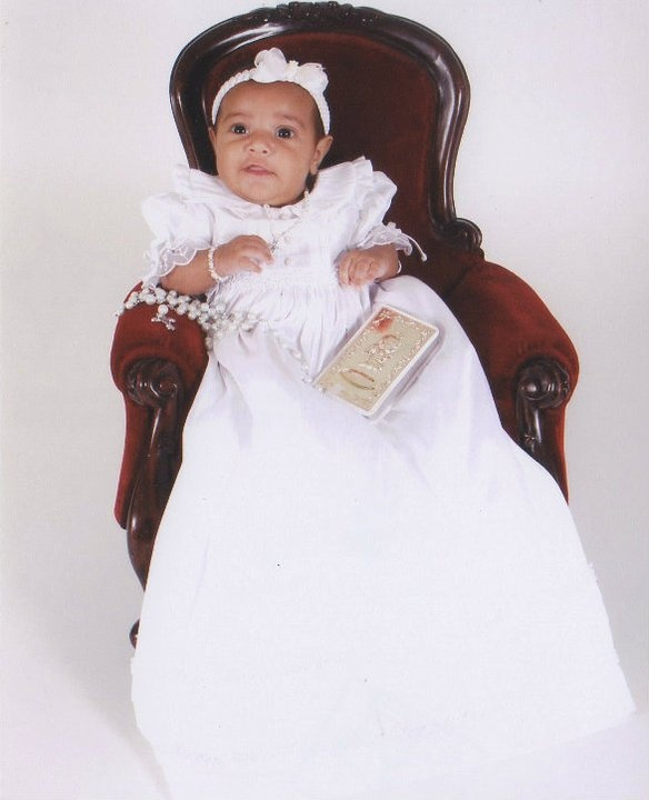 Allyson In Her Christening Gown From Macy S Allyson S