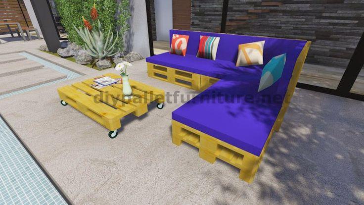 y planos en d de como hacer un sof para el jardn con palets muebles con pallets pinterest mesas y sofs