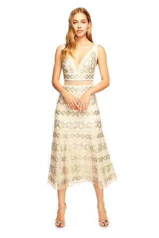 23ddc75b711 Tadashi Shoji Leigh Tea-Length Dress