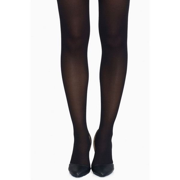 Tobi Basic Black Tights ($12) ❤ liked on Polyvore featuring intimates, hosiery, tights, black, black hosiery, black pantyhose, black stockings and black tights