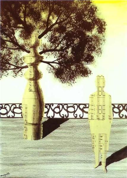 Untitled, 1925 by Rene Magritte, Early years. Surrealism. genre painting. Private Collection
