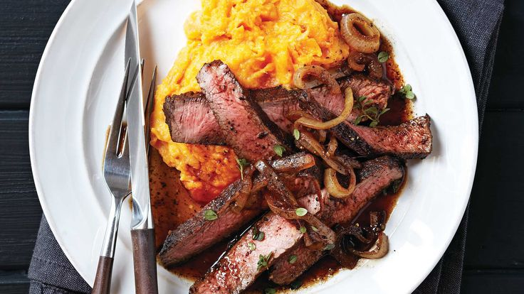 Balsamic-Glazed Sirloin with Rustic Sweet Potato Mash. The Triple-Threat Nutrient: A member of the morning glory family, sweet potatoes have high levels of beta-carotene, a nutrient-rich carotenoid. Beta-carotene, which is converted to vitamin A in the body, helps promote healthy eyes, skin and a strong immune system.