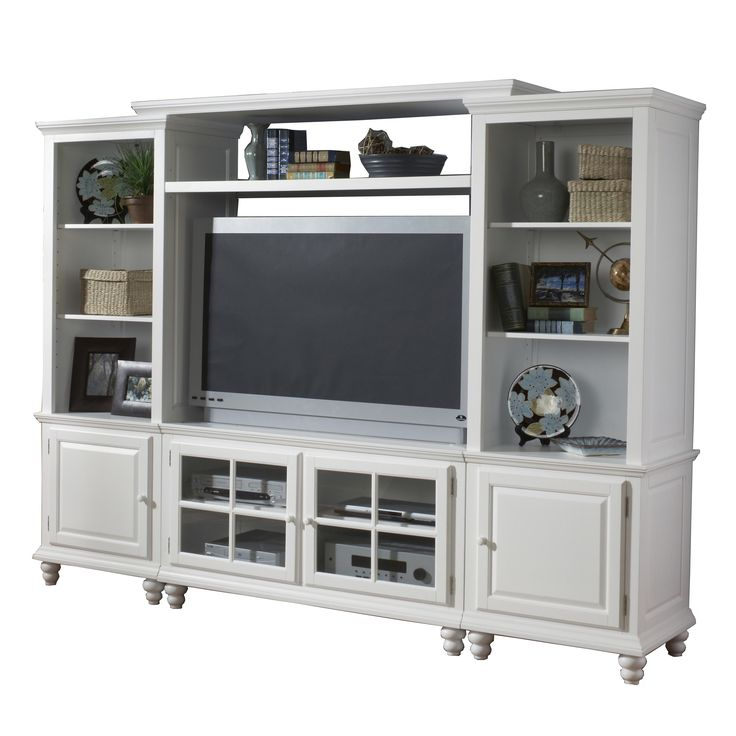 Small entertainment center with 11 shelf storage for Entertainment center ideas small spaces