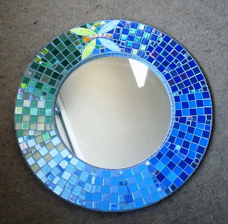 Glass mosaic mirror for my friend Sandra