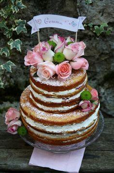 Naked cake aux fruits rouges, chantilly au mascarpone