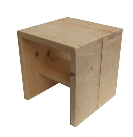 Blank Kruk laag steigerhout  40 x 40 MVP
