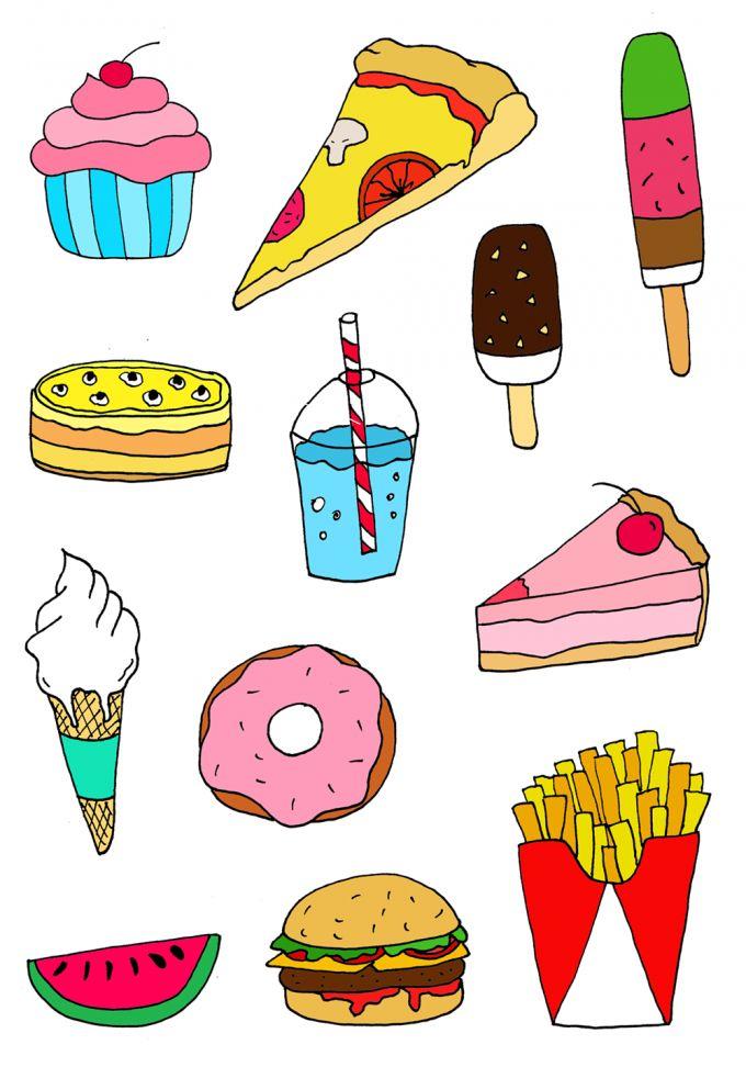 Картинки рисунки с едой