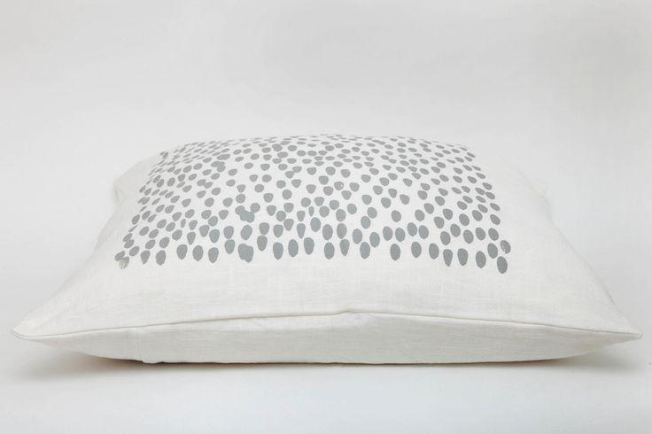 Raindrop Cushion Dark Grey on White