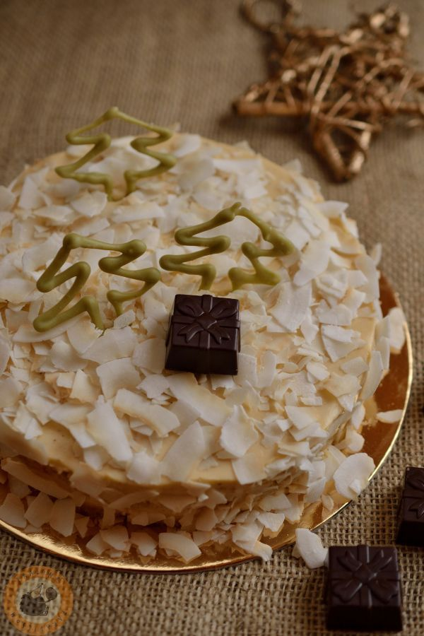 Coconut & passion fruit cake