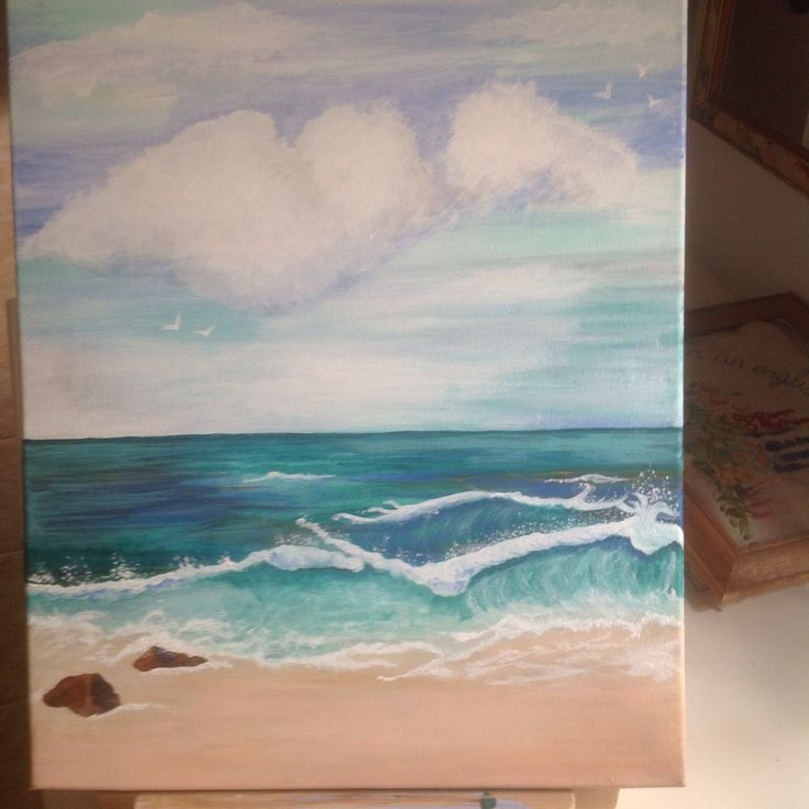 First attempt at a seascape. Jan Rowe