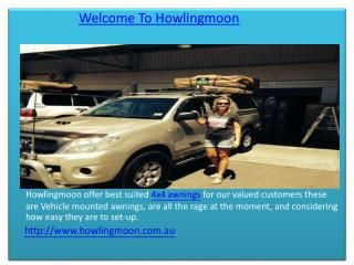 From a simple Swallow Awning to a Safari Awning you will find many kinds of awnings here on Howling Moon. You can even go for 4x4 Awnings if thats what you w...