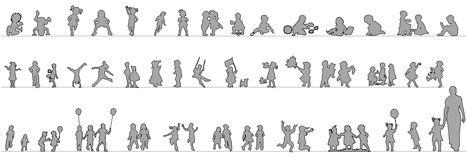 Bambini dwg - children drawings