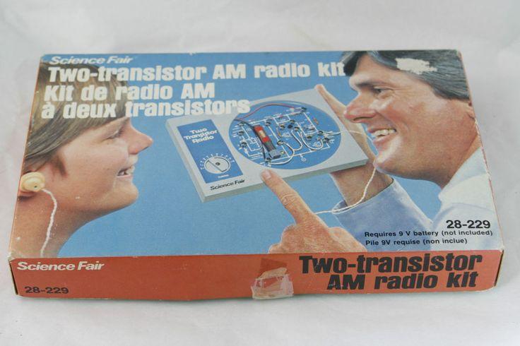 Vtg Tandy Science Fair Two Transistor AM Radio Kit Assembled 28-229 | eBay