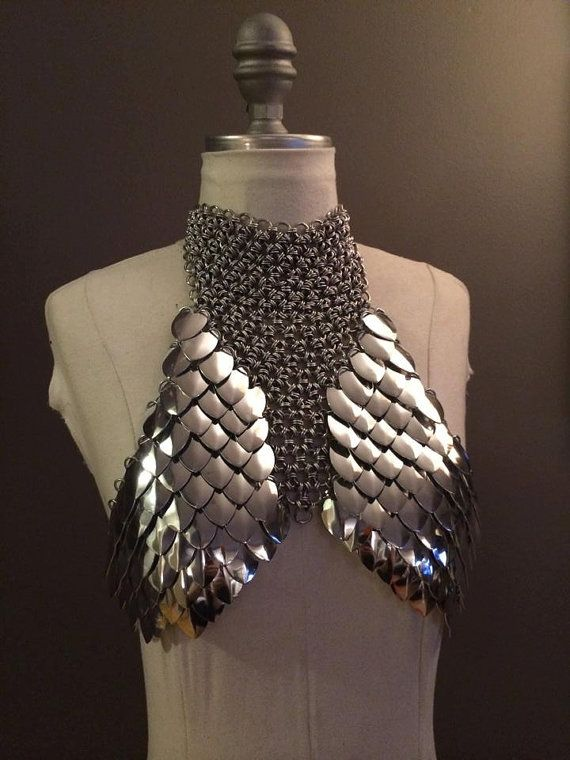 Exposition Scale Mail Bra Top XS-M por ScailleMaille en Etsy