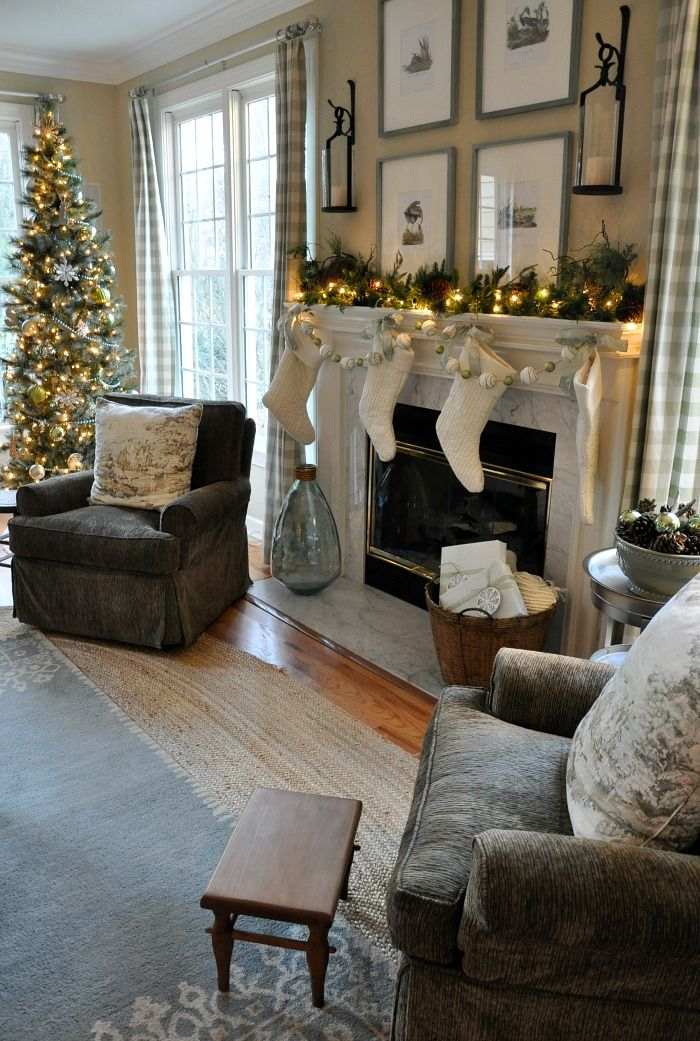 Exceptional Family Room Christmas Decoration Ideas Part - 7: Christmas 2016 Family Room - The Endearing Home