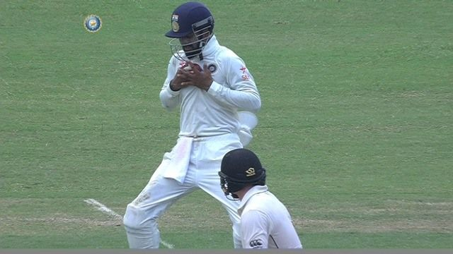 Close call! Tom Latham survives after the ball hits the grille of KL Rahul's helmet at short leg Paytm Test Cricket #INDvNZ