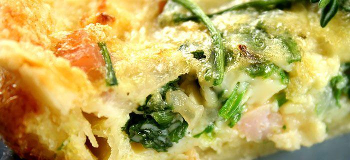 Een lekkere quiche met wilde spinazie, spekjes en ui. Makkelijk te maken en een heerlijk volle smaak.