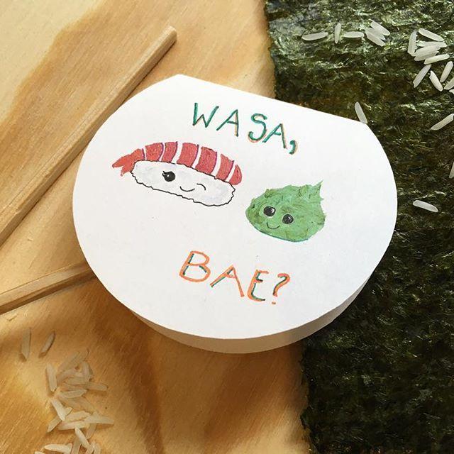 Wasabi | handmade | acrylic and ink. + + + + #etsy #wasabi #sushi #sashami #wasabae #handmade #handlettered #handlettering #cute #silly #valentines #valentinesday #card #postcard #love #mylove #bae #etsy #etsysellersofinstagram #papermade #cardmade #papercard #sushiroll #sushirock #sushiislife #sushiisthebest #wasabiclub #illustration #art + + Link in bio!