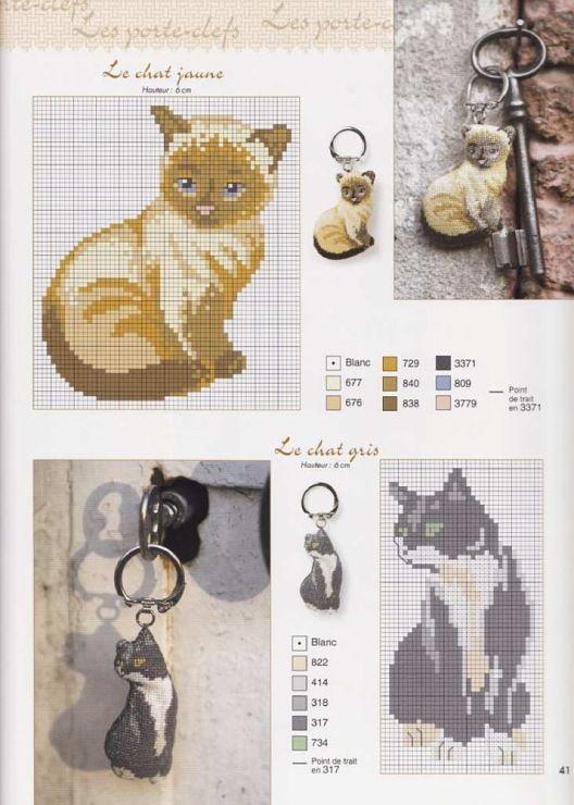 Cross-stitch Cats