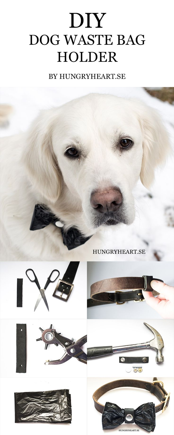 DIY Dog Waste Bag Holder Tutorial | Hungry Heart