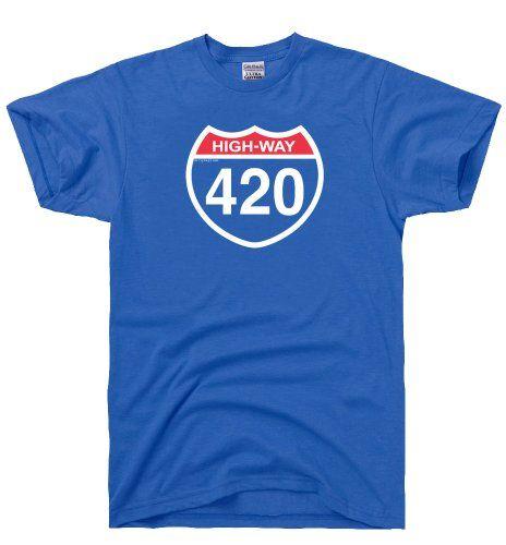 DirtyRagz Men's Highway 420 Four Twenty Weed T Shirt