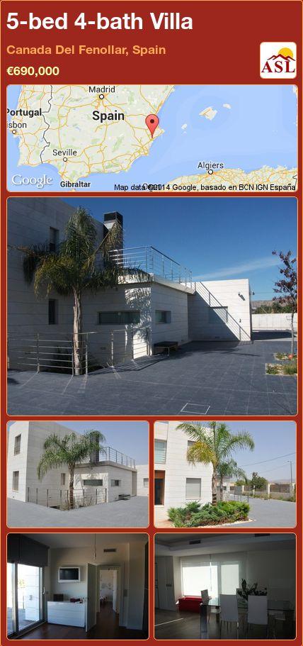 5-bed 4-bath Villa in Canada Del Fenollar, Spain ►€690,000 #PropertyForSaleInSpain