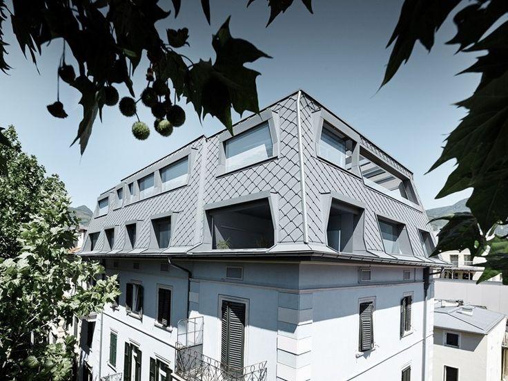 Aluminium Metal shingle for roof ROOF RHOMBOID PANEL by PREFA ITALIA