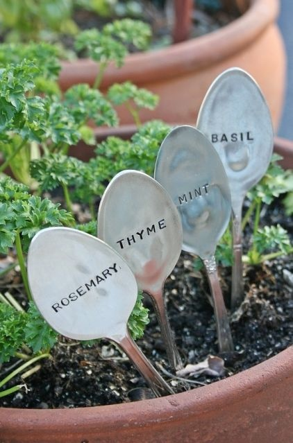 Add to Ideabookby Etsy by Etsy  Basil Mint Rosemary Thyme Silverware Garden Marker Set By Beach House Living - $ 30.00 »