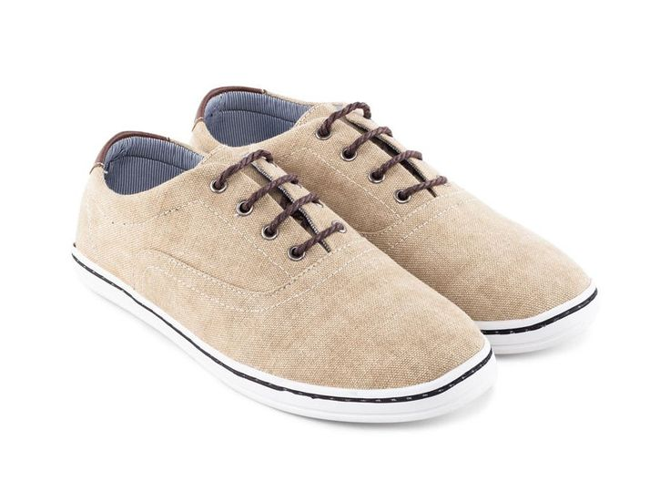 Canvas Plimsolls Sneakers by 24:01. Canvas sneakers with khaki color, round toe, lace up, casual shoes for everyday use or for a your casual style, this canvas shoes will suit your jeans, chino and your short perfectly.  http://www.zocko.com/z/JGiA1