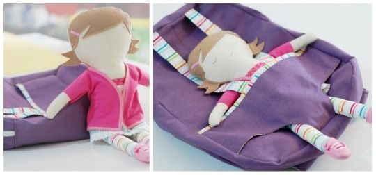Backpack Doll--I'd love to make something like this
