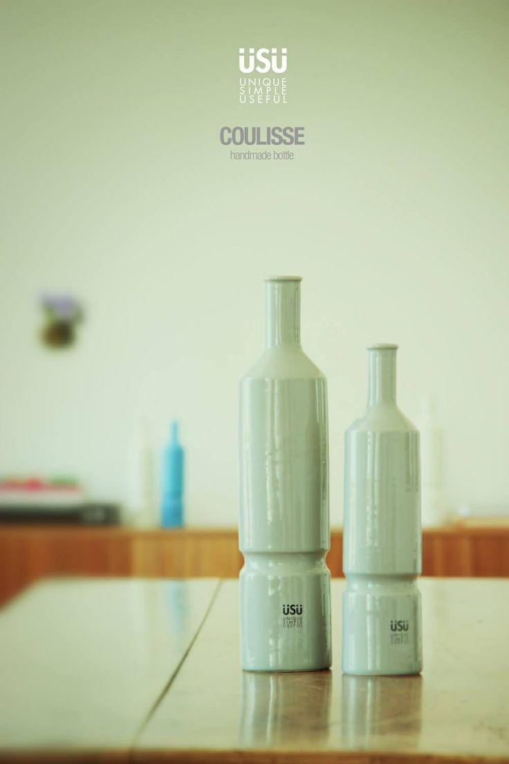 #coulisse750ml #coulisse250ml #handmade #tabletop #italiandesign #bottigliaceramica #bottigliaolio  www.laboratoriousu.com