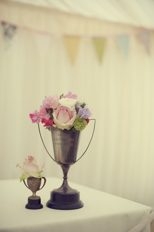 Turn an old trophy into a flower cup or vase! #upcycle