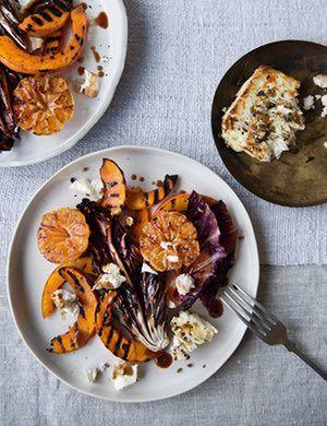 Anna Jones' charred clementine, pickled squash and radicchio salad.