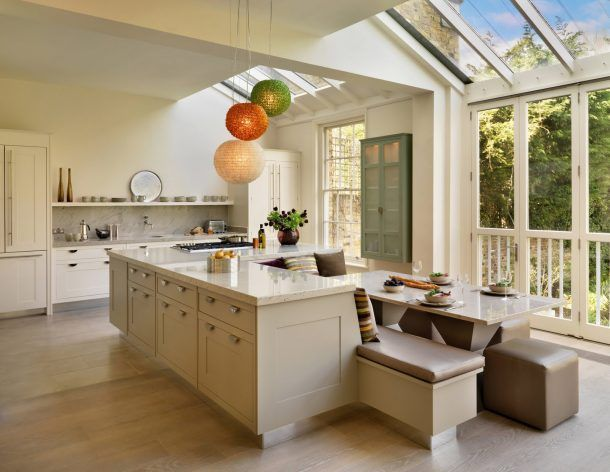 Image Result For Kitchen Island With Table Height Seating Two Level Kitchen Island With Bench Seating Modern Kitchen Island Kitchen Island Plans