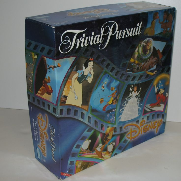 Trivial Pursuit Disney The Animated Picture Edition Board Game has questions for children and for adults! #trivia #disney #boardgames