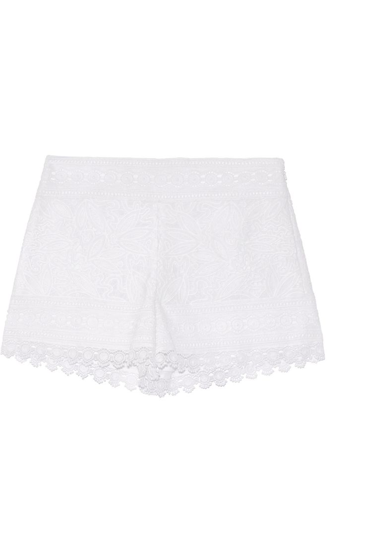Shop on-sale Tory Burch Kinsley cotton guipure lace shorts. Browse other discount designer Shorts & more on The Most Fashionable Fashion Outlet, THE OUTNET.COM