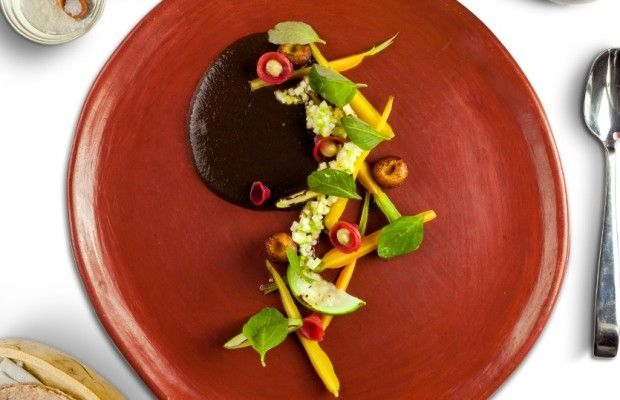 #TradiciónTlaxcala Mole prieto con pechuga de guajolote ahumado - Animal Gourmet