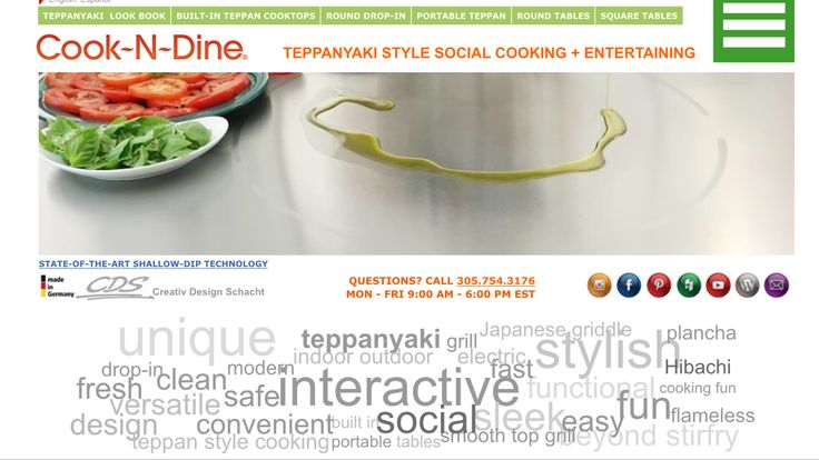 #tuesdaytip time! You can find a lot more info about the Cook-N-Dine Teppanyaki, from recipes, images, spec sheets, our LookBook, how to clean, where to buy and more, all on our website. Link in bio.