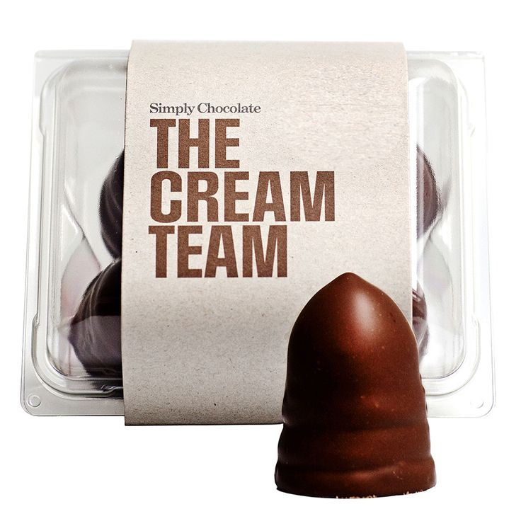 @simplychocolate #Chocolate #CreamPuffs #CreamTeam #FoamKisses #Packaging #Design