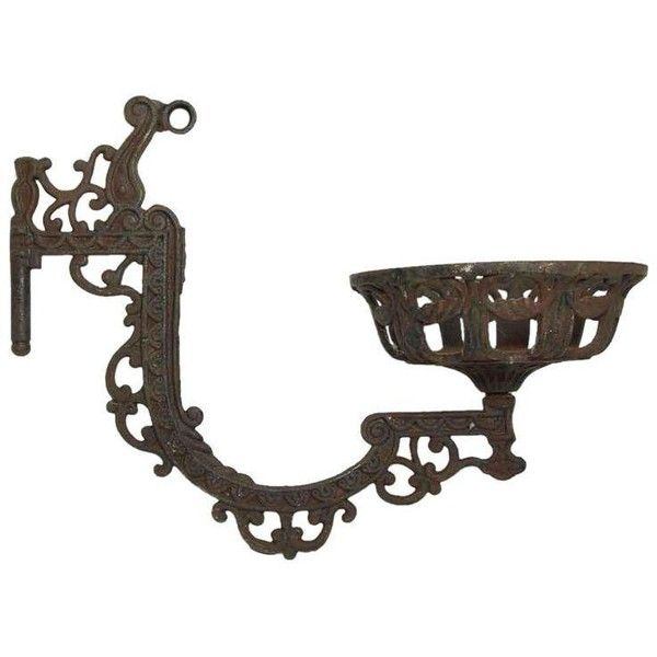 Victorian Kerosene Light Holder ($125) ❤ liked on Polyvore featuring home, home decor, candles & candleholders, candle holders, victorian home decor and victorian candle holder