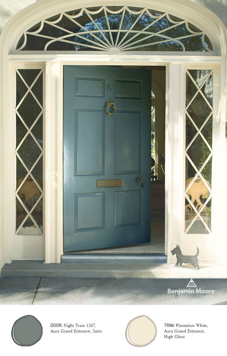 Benjamin moore paints exterior stains entrance door - Try out exterior paint colors online ...