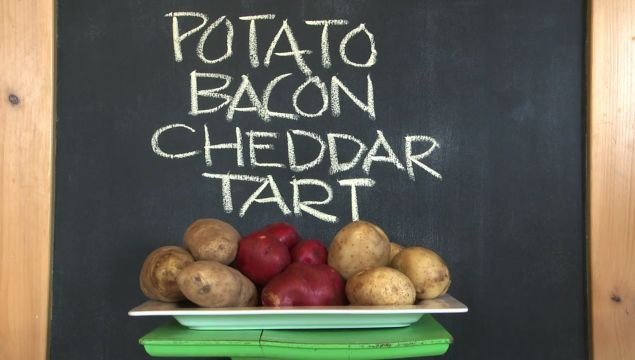 Potato Bacon Cheddar Tart