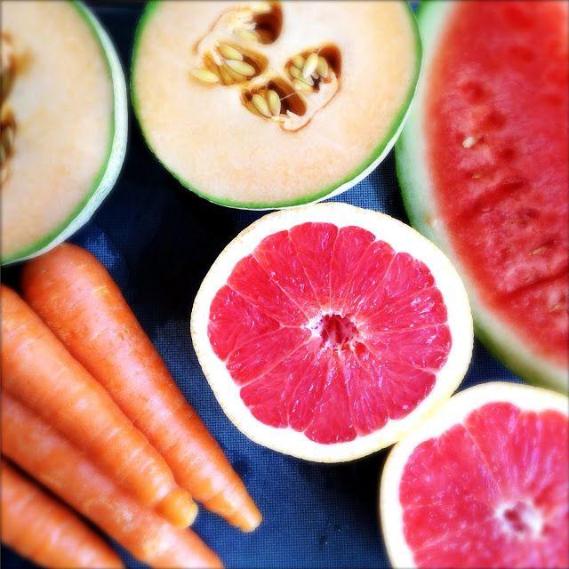 Juice med grapefrukt - Oppskrift Ferskpresset Nypresset Hjemmelaget Verdens Beste Juice Melon Grapefrukt Gulrot