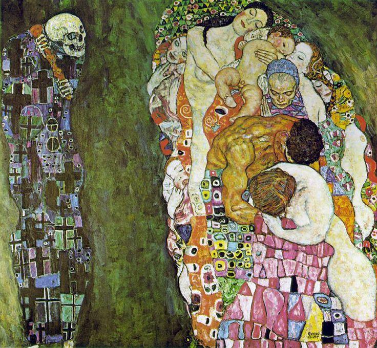 Klimt - Life and death: Life 1916, Klimt 18621918, Artistgustav Klimt, Death, Artsy Fartsi, Visual Art, Gustav Klimpt, Gustavklimt, Painting