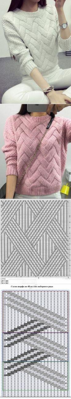 Красивый узор для пуловерв