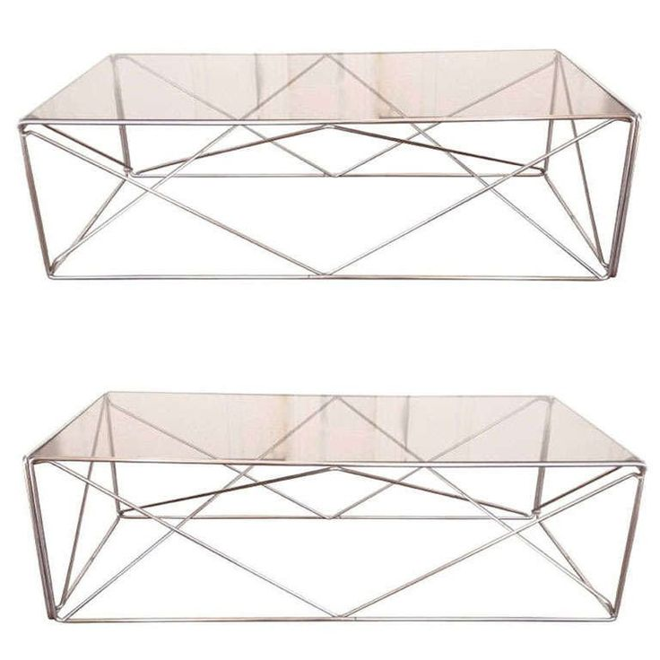 "Pair of Max Sauze ""Isocele"" Tables"