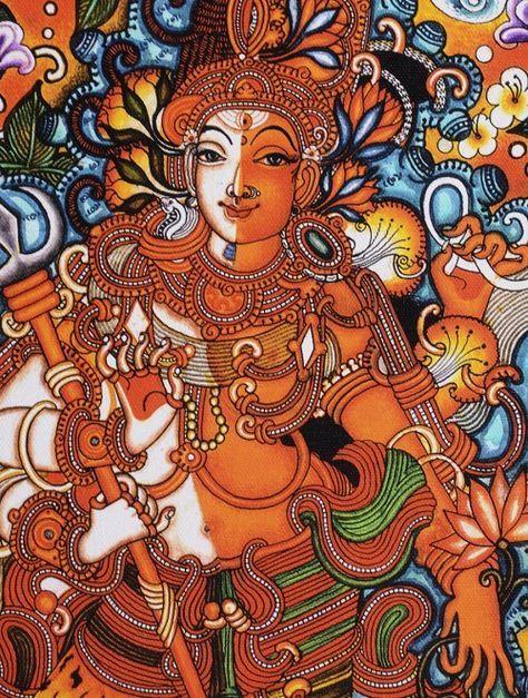 Ardhanarishwara Kerela Murals 19.6in x 14in