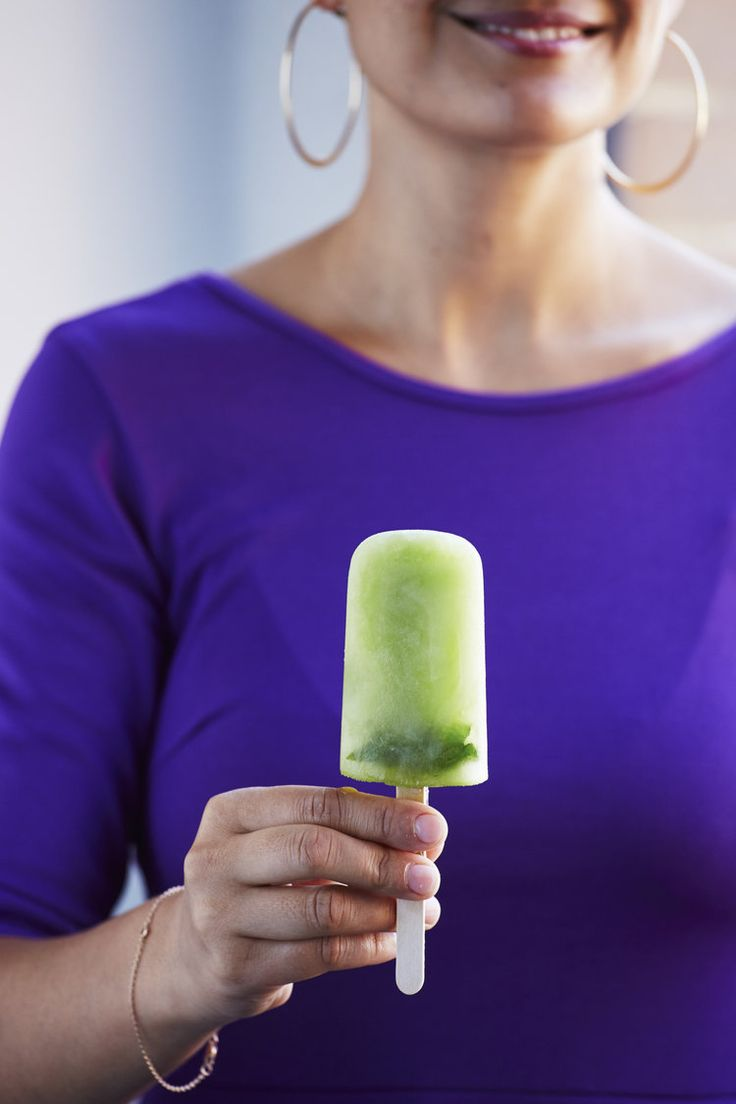 Cucumber + mint popsicles | The Desserts Of New York cookbook
