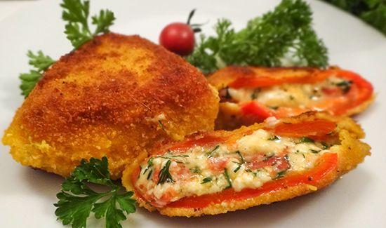 Болгарский рецепт Чушки бюрек (Bulgarian Chushki Burek – Peppers Burek). Сладкий перец фаршированный сыром, сочный, в хрустящей корочке