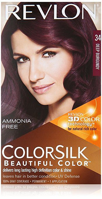 Revlon Colorsilk Beautiful Color for Unisex, #34 Deep Burgundy